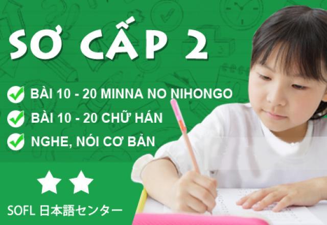 Khóa học tiếng Nhật sơ cấp 2