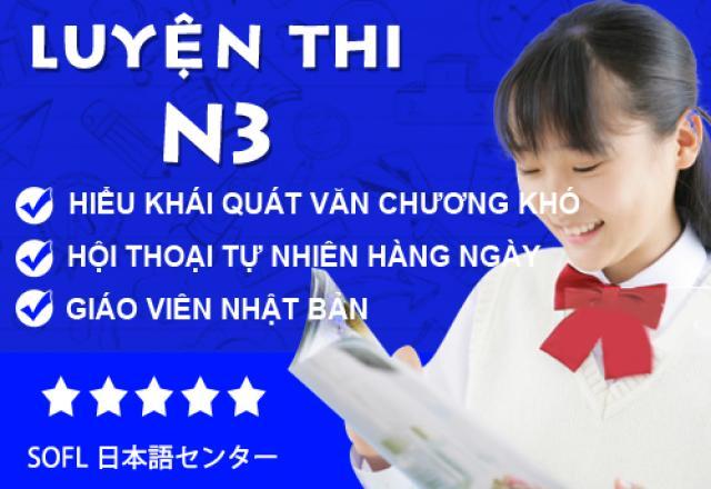Lớp luyện thi tiếng Nhật N3 tại Hà Nội