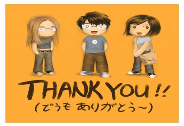 Những câu nói cảm ơn bằng tiếng Nhật