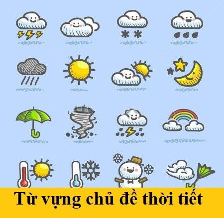 Học từ vựng tiếng Nhật về thời tiết