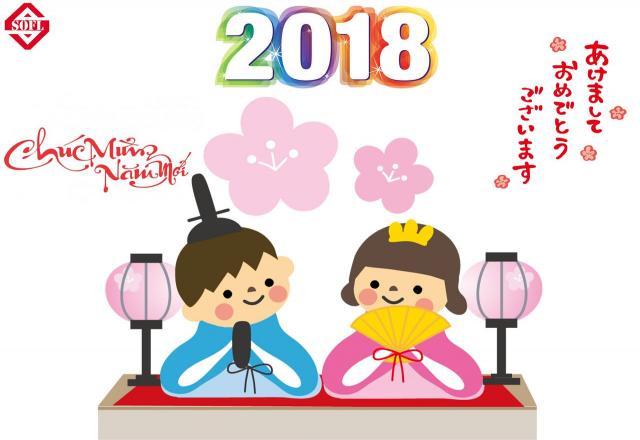 Cùng học tiếng Nhật chúc mừng năm mới chào đón 2018