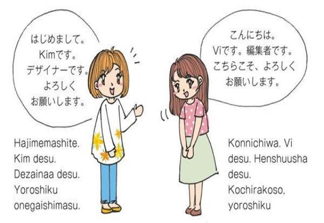Học tiếng Nhật giao tiếp chủ đề giới thiệu bản thân
