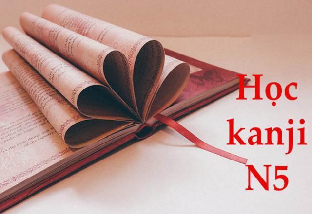 Tổng hợp Kanji tiếng Nhật luyện thi JLPT N5