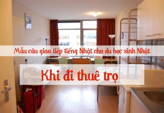 Một số mẫu câu giao tiếp thường gặp khi thuê nhà ở Nhật