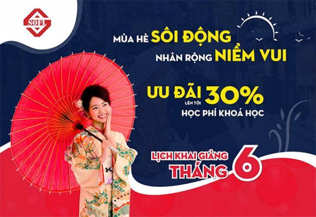 Hè thêm vui với ưu đãi khóa học lên tới 30% cùng Nhật ngữ SOFL