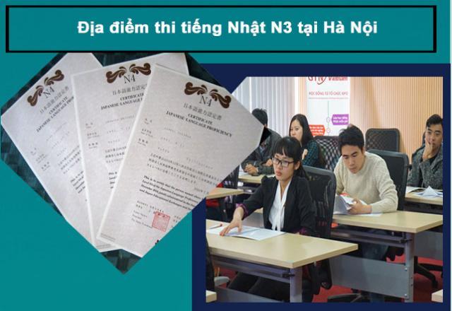 Địa điểm thi tiếng Nhật N3 tại Hà Nội
